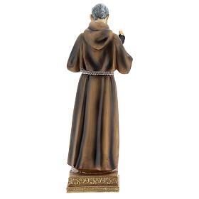 Padre Pio 22 cm statua in resina s4