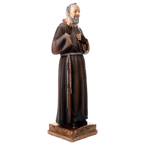 Padre Pio 22 cm statua in resina 3