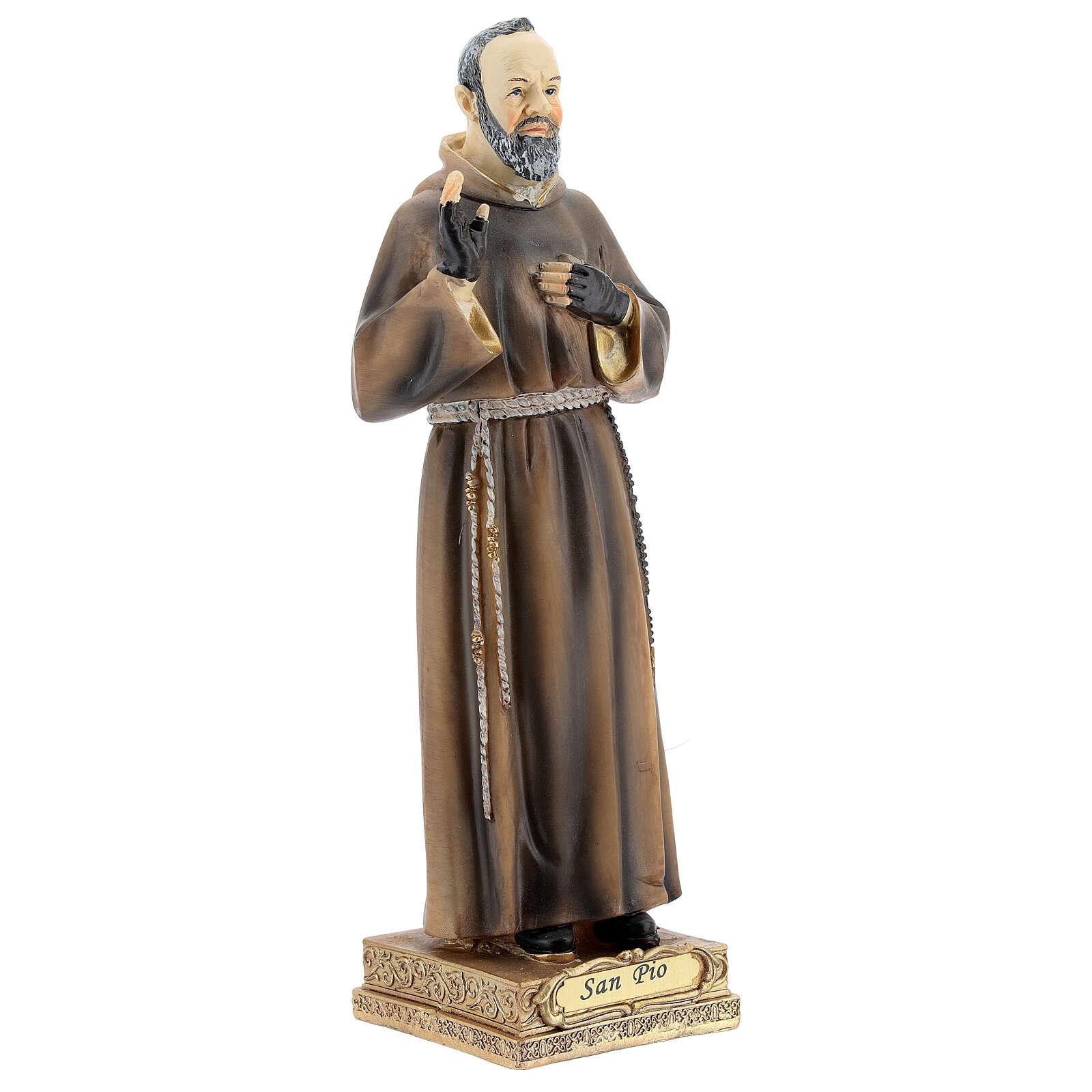 Ojciec Pio 22 cm figura z żywicy 4