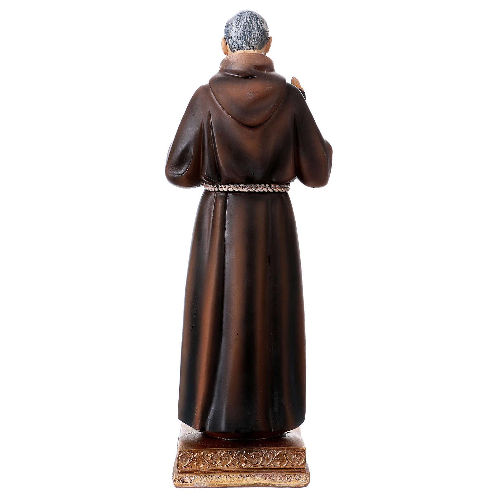 Saint Pio Statue, 22 cm in resin 4