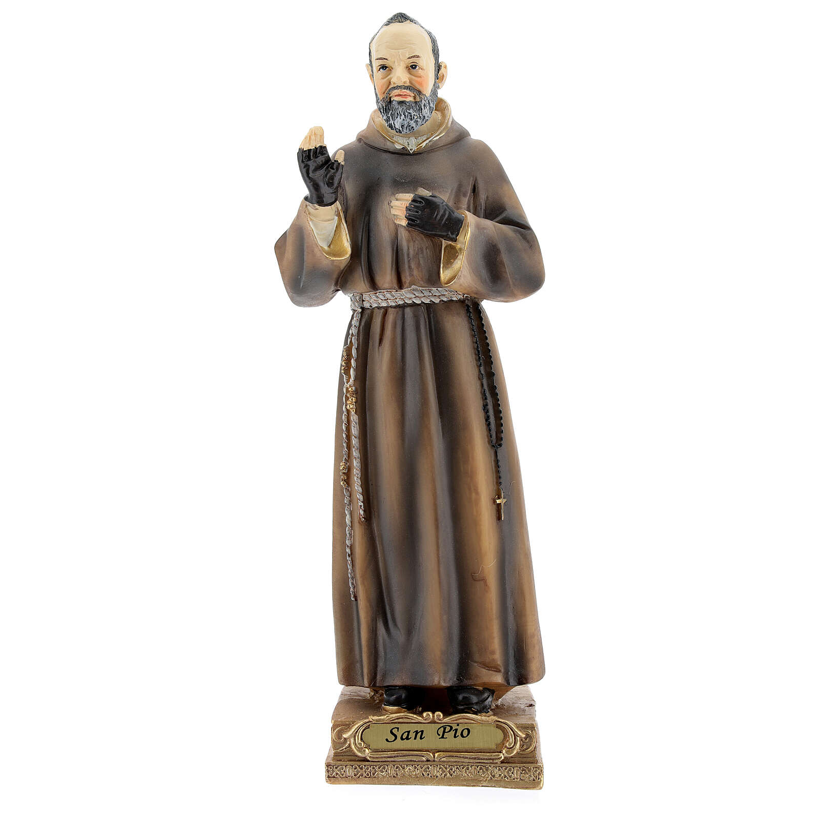 Saint Pio Statue, 22 cm in resin 4