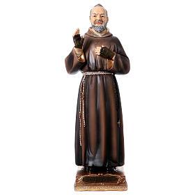 Saint Pio Statue, 22 cm in resin s1