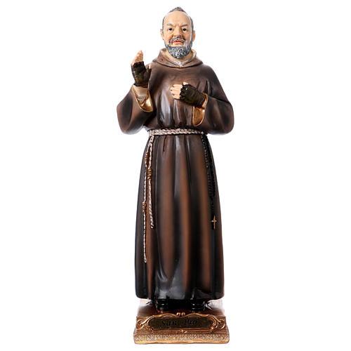 Saint Pio Statue, 22 cm in resin 1
