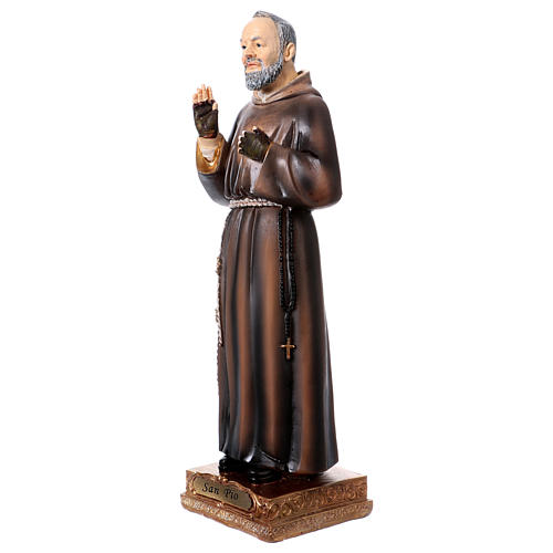 Saint Pio Statue, 22 cm in resin 2