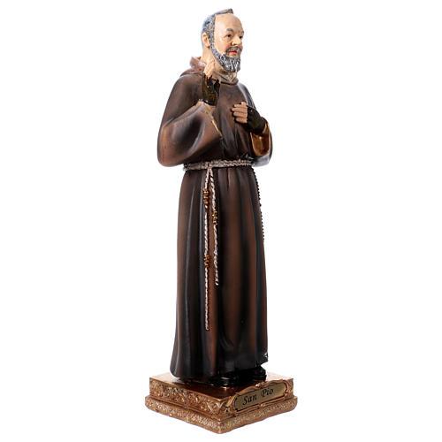 Saint Pio Statue, 22 cm in resin 3