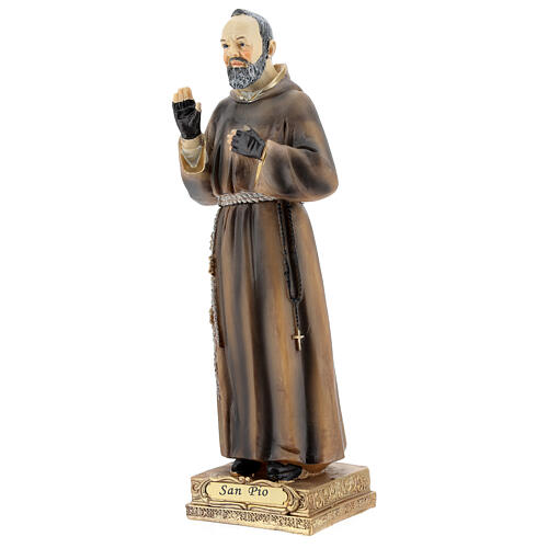 Saint Pio Statue, 22 cm in resin 2