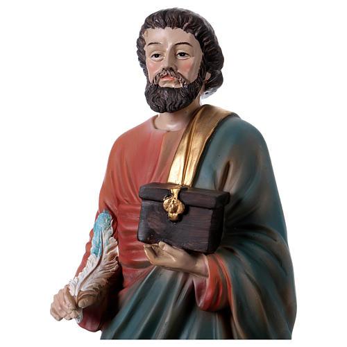 St. Matthew the Evangelist statue in resin 30 cm 2