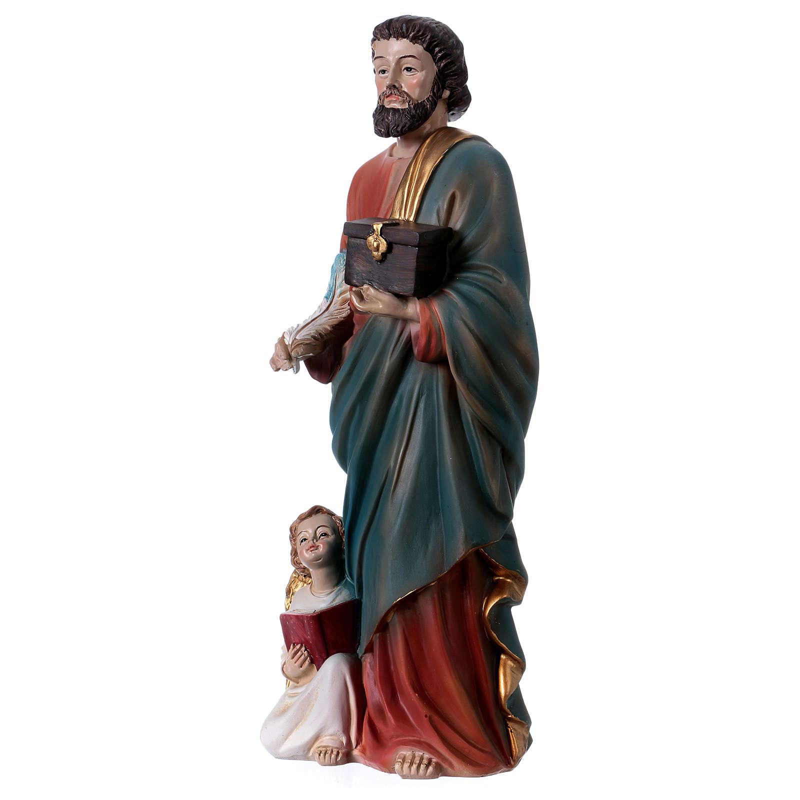 San Mateo Evangelista 30 cm estatua de resina 4