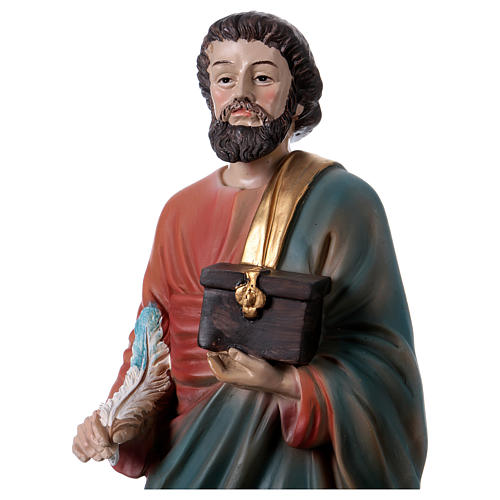 San Mateo Evangelista 30 cm estatua de resina 2