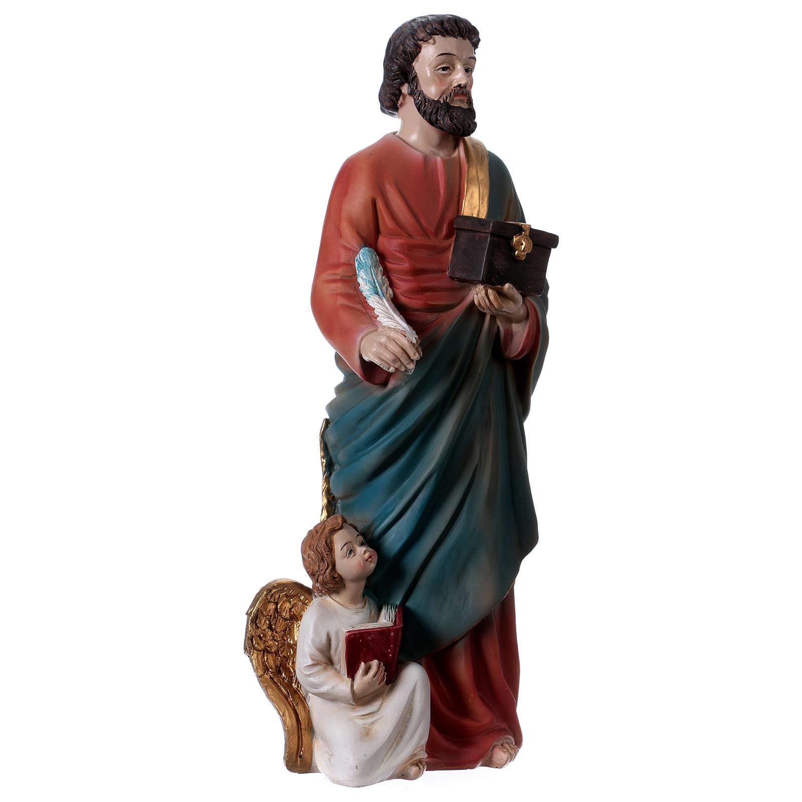 Saint Matthieu Évangéliste 30 cm statue en résine 4