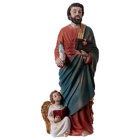 Saint Matthew the Evangelist 30 cm resin statue s1