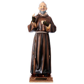 Imágenes de Resina y PVC: Estatua de resina Padre Pío 43 cm