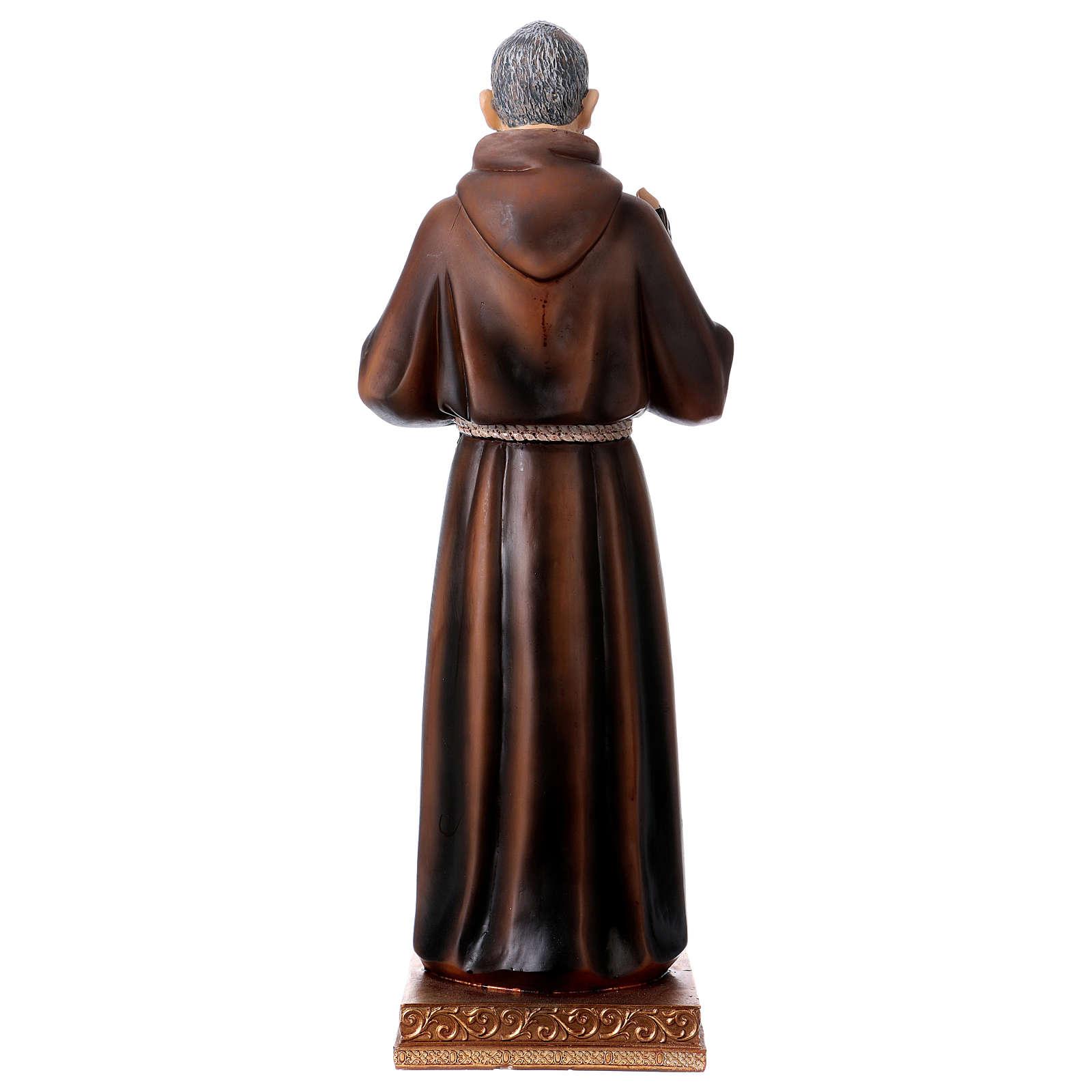 Statue en résine Saint Pio 43 cm 4