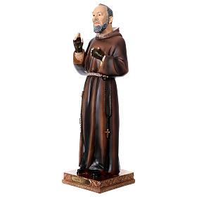 Statue en résine Saint Pio 43 cm s3
