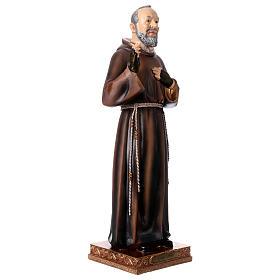 Statue en résine Saint Pio 43 cm s4