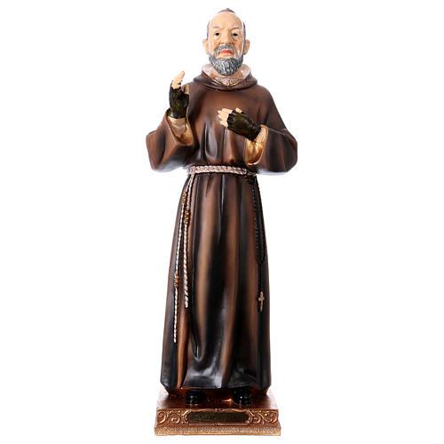 Statue en résine Saint Pio 43 cm 1