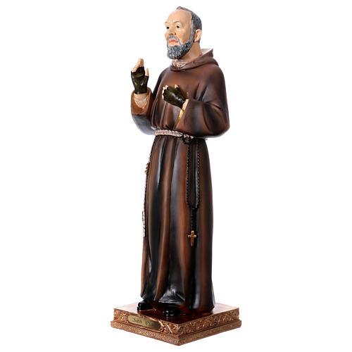 Statue en résine Saint Pio 43 cm 3