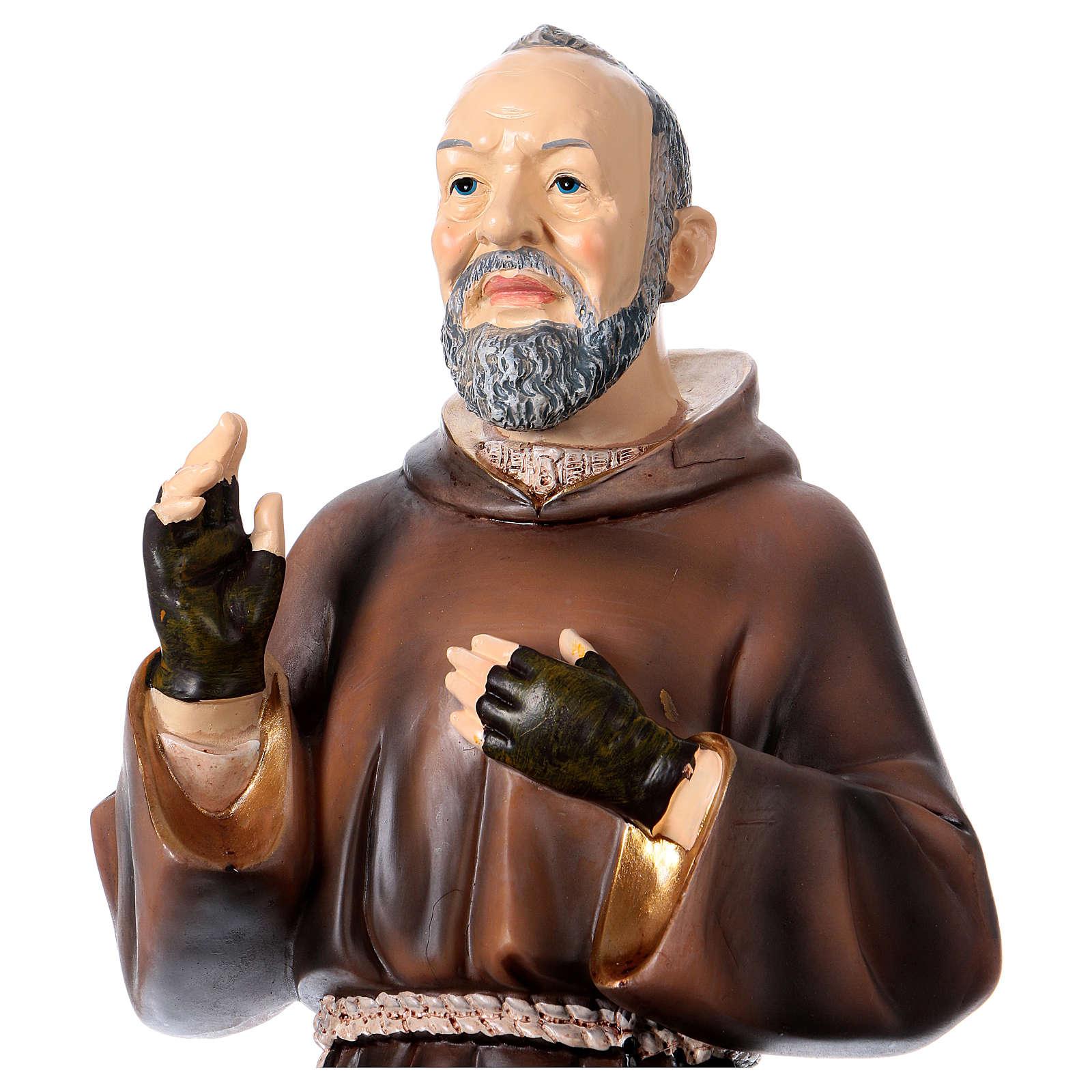 Figura z żywicy Ojciec Pio 43 cm 4