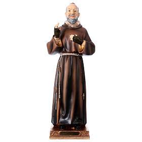 Imagens em Resina e PVC: Imagem em resina Padre Pio 43 cm