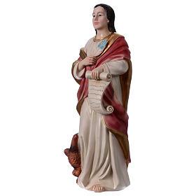 St. John the Evangelist statue in resin 30 cm s3
