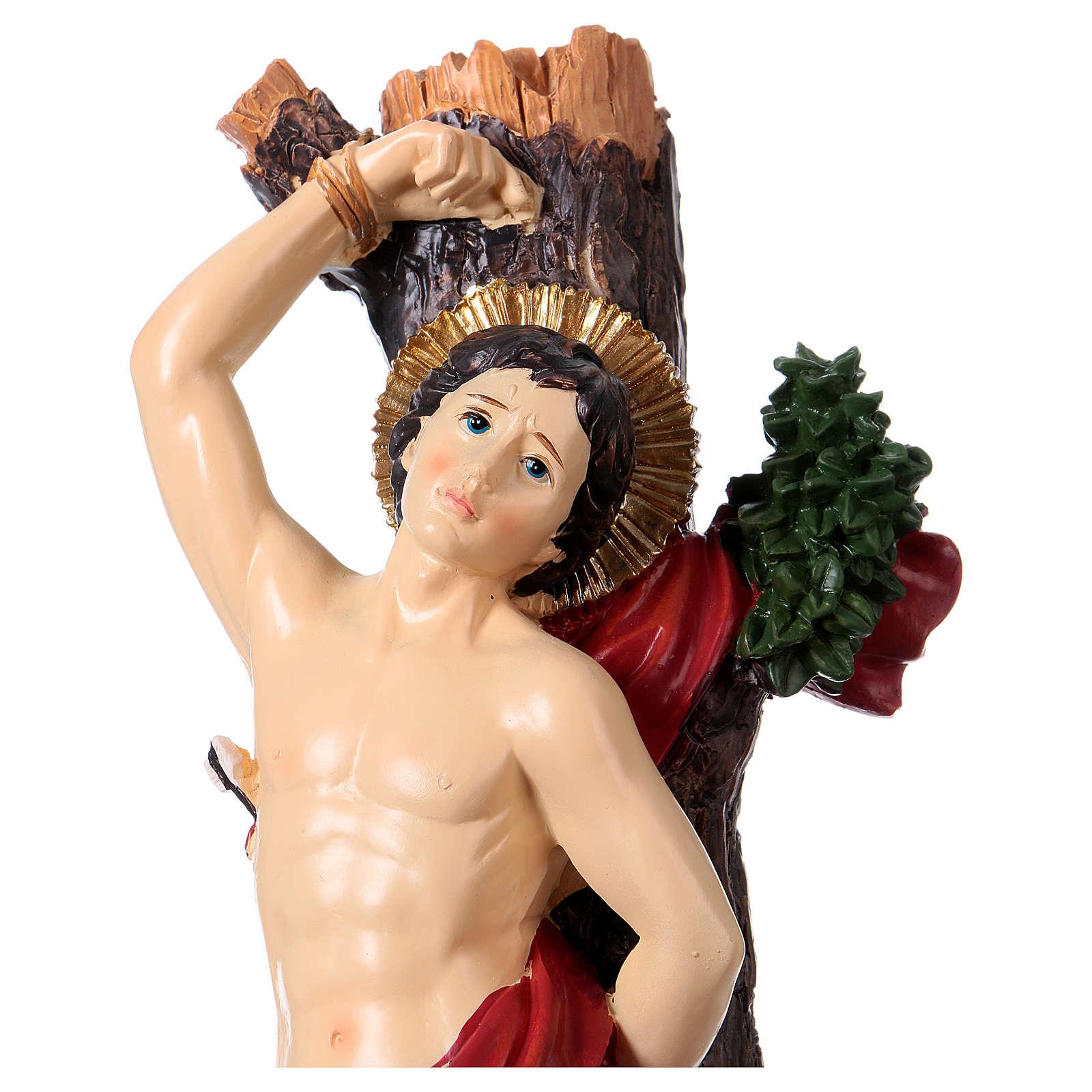 Estatua San Sebastián 30 cm resina 4