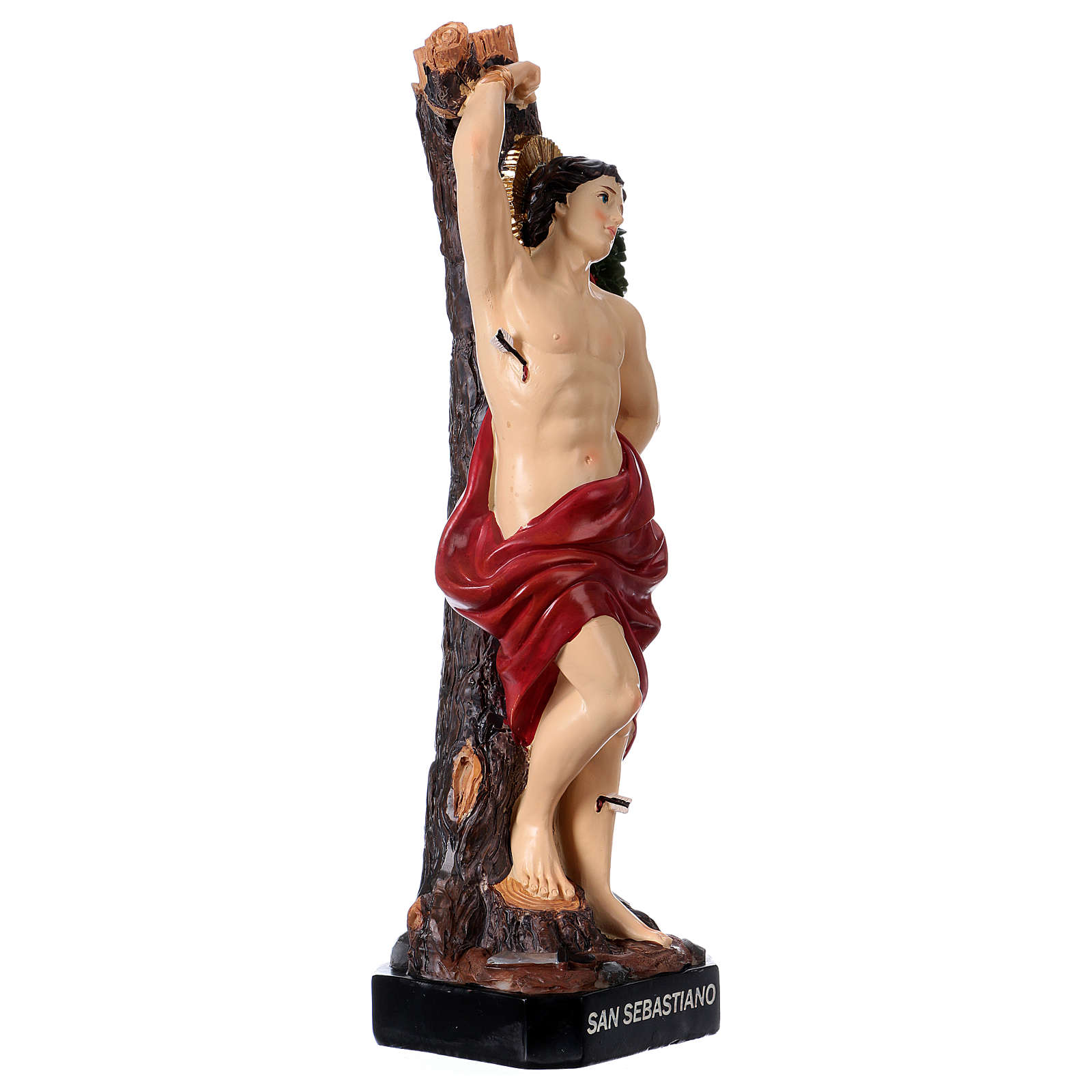 Statua San Sebastiano 30 cm resina 4