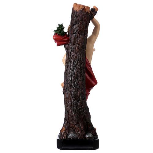 Statua San Sebastiano 30 cm resina 5