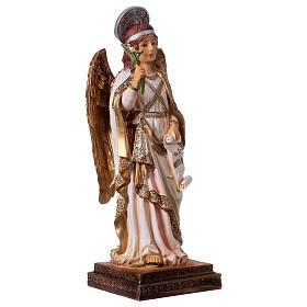 Archangel Gabriel statue in resin 30 cm s4