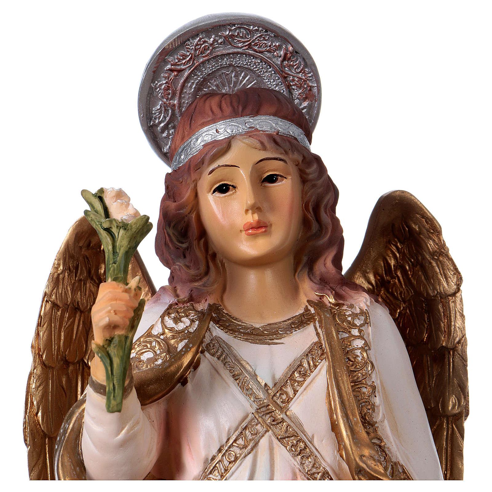 Arcangelo Gabriele 30 cm statua in resina 4