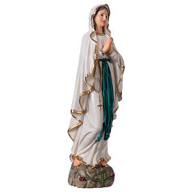 Our Lady of Lourdes statue in resin 30 cm s4