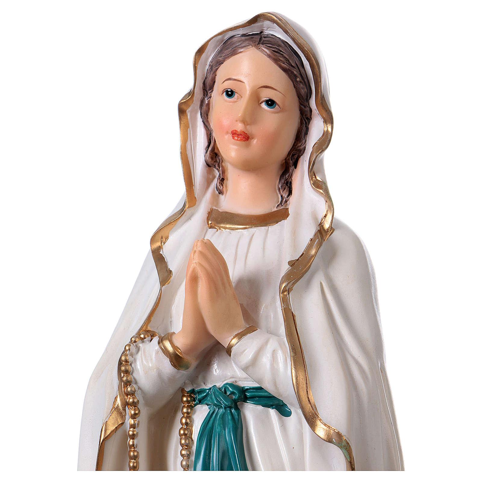 Virgen de Lourdes 30 cm estatua resina 4