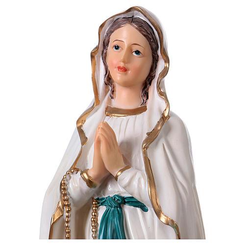 Virgen de Lourdes 30 cm estatua resina 2