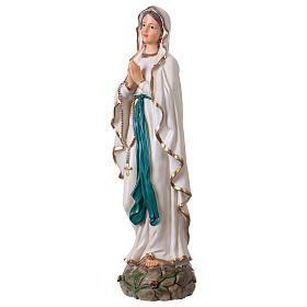 Madonna di Lourdes 30 cm statua resina s3