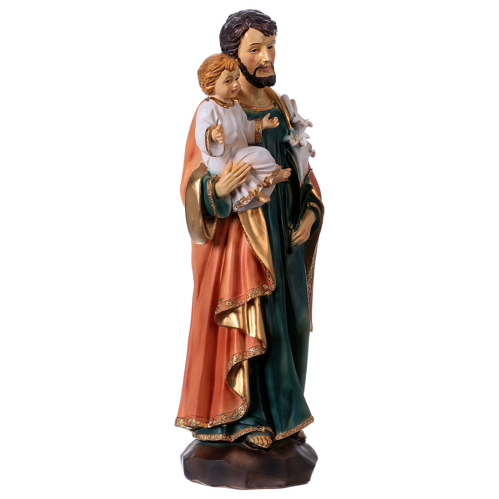 San José y Niño 30 cm estatua resina 4