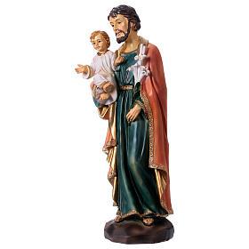 San José y Niño 30 cm estatua resina s3