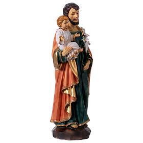 San José y Niño 30 cm estatua resina s4