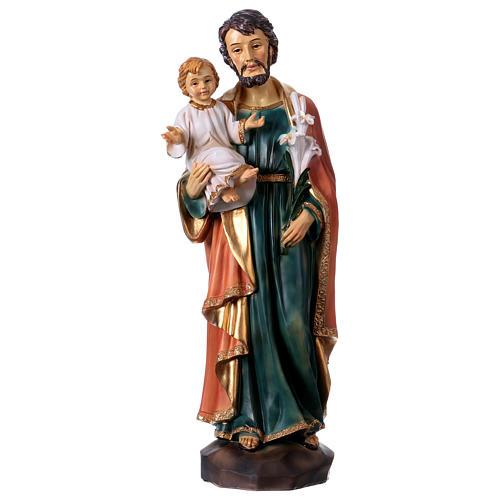 San Giuseppe e Bambino 30 cm statua resina 1