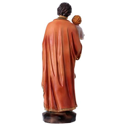 San Giuseppe e Bambino 30 cm statua resina 5