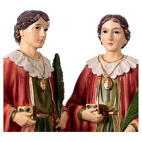 Santo Cosma y Damián 30 cm estatua resina s2