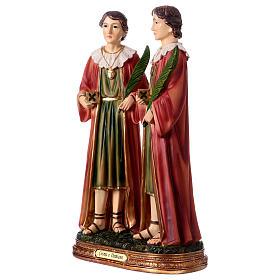 Santo Cosma y Damián 30 cm estatua resina s3