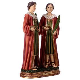 Santo Cosma y Damián 30 cm estatua resina s4
