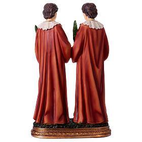 Santo Cosma y Damián 30 cm estatua resina s5