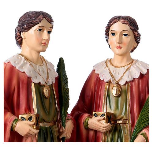 Santo Cosma y Damián 30 cm estatua resina 2