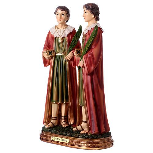Santo Cosma y Damián 30 cm estatua resina 3