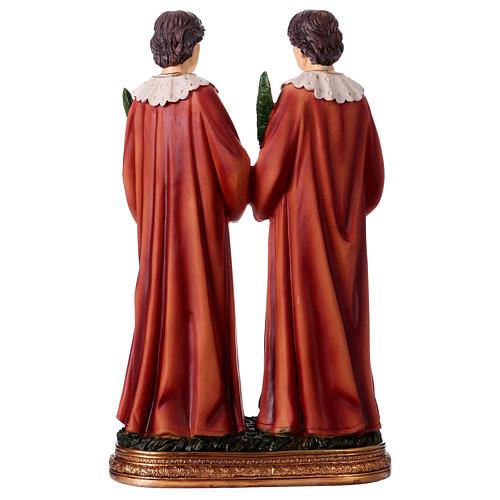 Santo Cosma y Damián 30 cm estatua resina 5