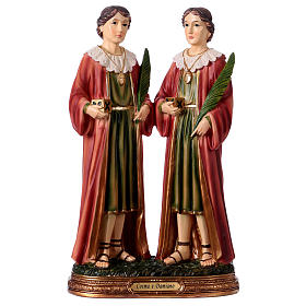 Resin & PVC statues: Saints Cosmas and Damian Statue, 30 cm in resin