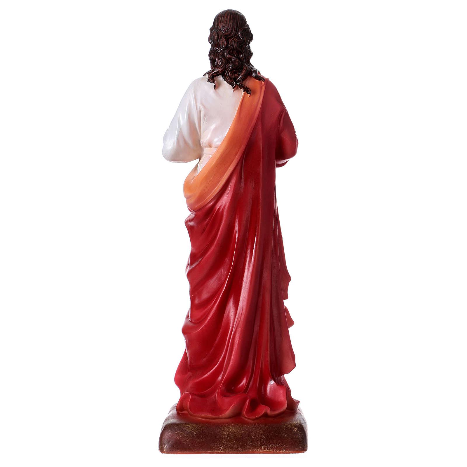 Sacro Cuore di Gesù 30 cm resina  4