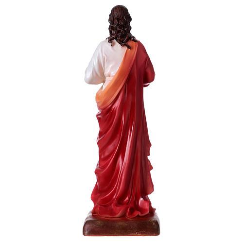 Sacro Cuore di Gesù 30 cm resina  5