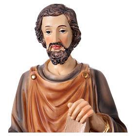 St. Joseph carpenter statue in resin 33 cm s2
