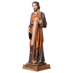 St. Joseph carpenter statue in resin 33 cm s3